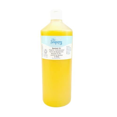 Aceite de baobab orgánico 1 litro – prensado en frío, crudo, puro, sin refinar
