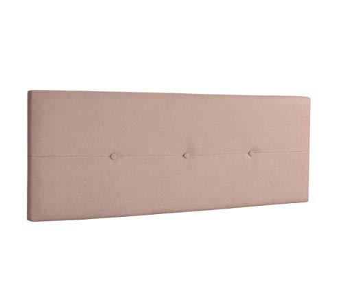 DHOME Cabecero de Polipiel o Tela AQUALINE Pro cabeceros Cabezal tapizado Cama Lujo (Tela Beige, 145cm (Camas 120/135/140))