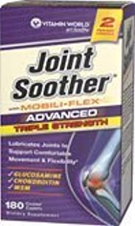 Advanced Triple Strength Joint Soother ? with MOBILI FLEX , 180 Coated Caplets Each 3 Pack Total of 540 Coated Caplets by VITAMIN WORLD by Vitamin World