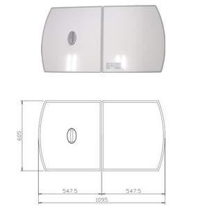 タカラスタンダード 風呂フタ(2枚組) フロフタMZ-12W【10193673】【NP後払いOK】