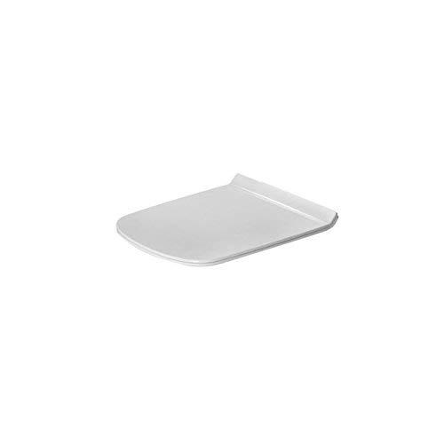 Duravit 0063710000 toiletbril DuraStyle zonder SoftClose scharnieren roestvrij staal, wit