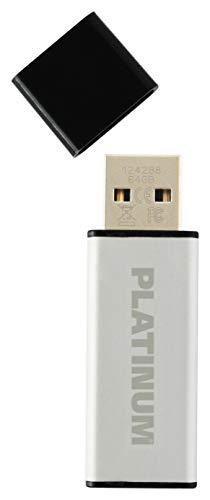 Platinum ALU USB-Stick 64 GB USB 3.0 USB-Flash-Laufwerk - moderner Speicher-Stick aus Aluminium - inkl. Schutzkappe in schwarz