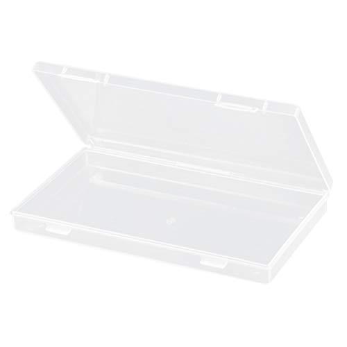 KESYOO Kunststoff Aufbewahrungsbox Rechteckig Leer Box Tragbar Gesichtsschutz Mundschutz Aufbewahrung Transparent Multifunktional Schmuck Perlen Aufbewahrungsbox