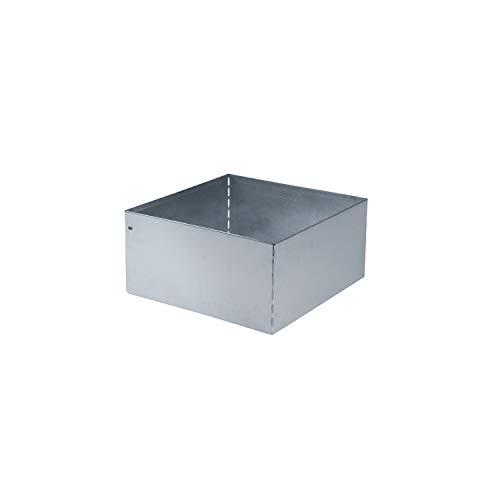 Preisvergleich Produktbild bellissa Rasenkante Square verzinkt,  quadratisch 40x40 cm,  H20 cm