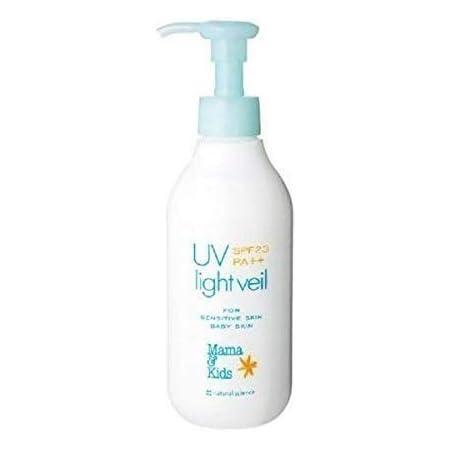 ママ&キッズ UVライトベールSPF23PA++200ML /Mama&Kids UV Light Veil/防晒乳液