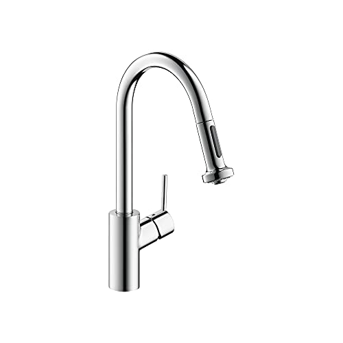 hansgrohe Talis S² Easy Install Kitchen Faucet 1-Handle 16-inch Tall Pull Down Sprayer Magnetic Docking Spray Head Wide Reach in Chrome, 14877001