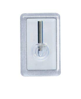 Wenko 4418030100 Gardinenhaken, Kunststoff, 4-er Set, 2 x 3 x 1.5 cm, transparent