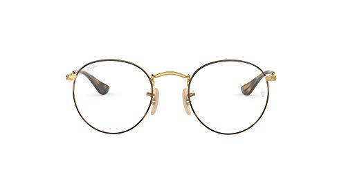 Ray-Ban 0rx 3447v 2945 47 Monturas de gafas, Gold On Top Havana, Hombre