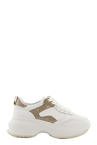 Luxury Fashion | Hogan Dames HXW4350BN50N1Q1556 Wit Leer Sneakers | Lente-zomer 20