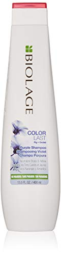 BIOLAGE ColorLast Purple Shampoo | Purple Shampoo For Blondes | Neutralizes Brassy & Yellow Hair Color | Paraben-Free Shampoo | 400 millilitres