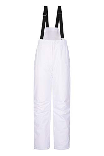 Mountain Warehouse Moon Skihose für Damen - Wasserabweisende Damenhose, Verstellbarer Bund, abnehmbare Träger, Taschen - Ideale Skibekleidung Im Winter Weiß 36 DE (38 EU)