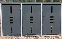 Mülltonnenbox Metall für 3 Mülltonnen mit Klappdeckel anthrazit …