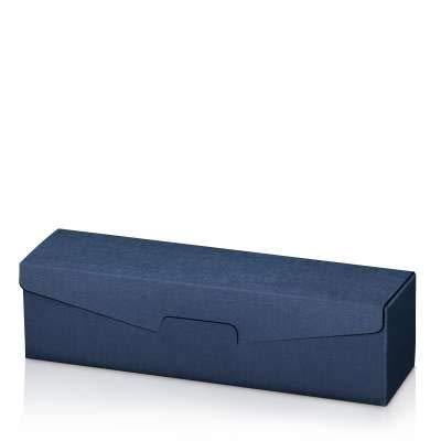 Weinverpackung Weinpräsentkarton Struktur Seta Blau für 1 Flasche VE 50 Stück