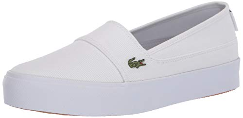 Lacoste Women's Marice Plus Grand 1201CFA Sneaker, White/Navy, 7 Medium US