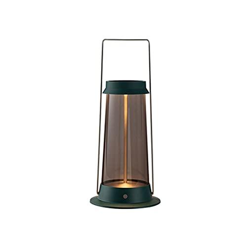 UTDKLPBXAQ Lámpara de Camping Retro con Mango, luz de Noche LED Regulable, Linterna portátil Impermeable con batería de 6000mAh para Dormitorio, Sala de Estar, Estudio al Aire Libre