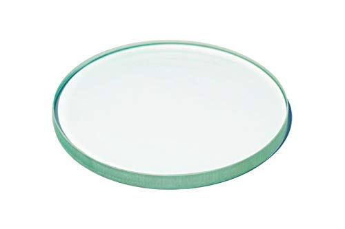 """Bruce Charles Designs Spinning Top Base 5.9"""" (150 mm) Diameter - Double Concave Fused Silica Glass Optical Lens - Thickness 0.45"""" (11.5mm) - Spin Top Glass Base Surface (150mm)"""