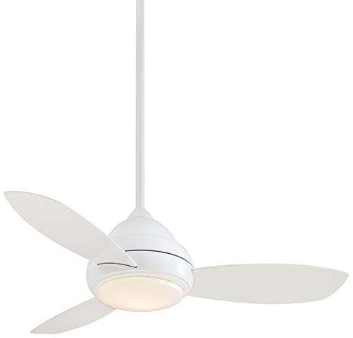 Minka-Aire F516L-WH Concept I 44 Inch Ceiling Fan with Integrated 14W LED Light in White Finish