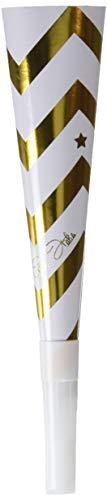 Givi Italia 45518 6 hoorns gouden stempel, wit/zwart, 14 cm