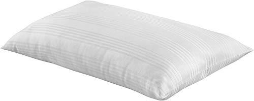 Casatex Almohada de Lana Natural y Pura, con Cubierta de PERCALLE 100% Puro algodón - También Adecuado para Verano - Medida 50x80 cm