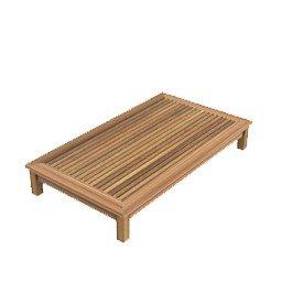 dafnedesign. com – Table de jardin table basse Chelsea de teck rectangulaire 80 x 140 cm, h 22