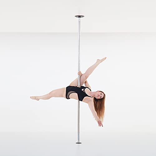 LUPIT POLE Professional Stripper Pole for Home - G2 Swarovski Diamond Stainless Steel Dance Pole - 45mm (1.77in) – Spinning and Static Mode - Portable and Removable Fitness Dancing Pole