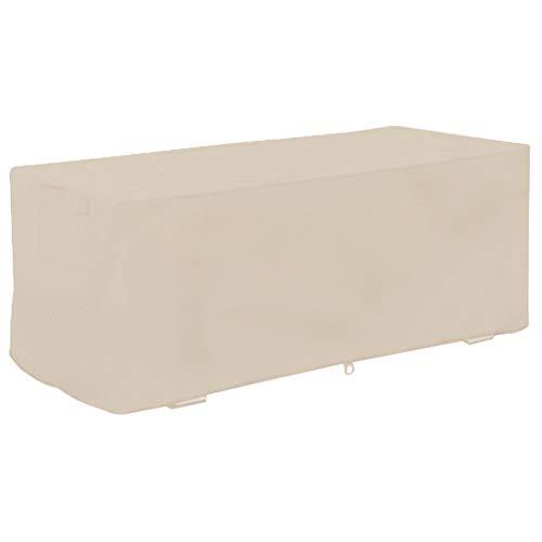 Atyhao Couvercle de Boîte de Pont - 123x62x55cm Jardin Étanche à l'épreuve UV Box Deck Cover Storage Box Housse de Protection(#2)