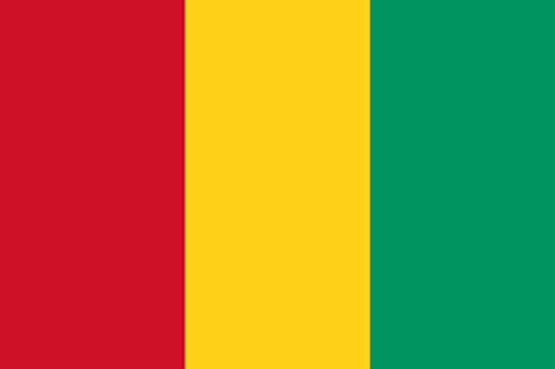 Bandera nacional de Guinea Conakry 100 % poliéster, 150 x 90 cm