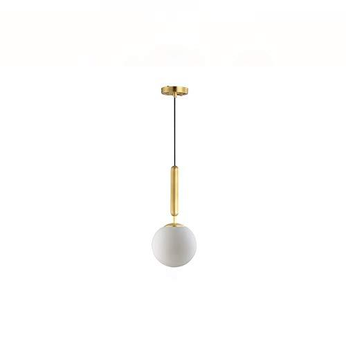 JIAXIAOYAN Estilo nórdico Dormitorio de Noche de la lámpara, Moderno Modelo de Habitaciones/Restaurante/Bar/Contador Sola Bola de Cristal Blanca de la lámpara, Elegante de la lámpara en el salón