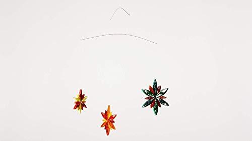 Gastgeschenk Weihnachten, Mobile Papier Sterne, Weihnachts-Mobile, Sternenhimmel, Baby Deko Advent, Kinderzimmerdekor Advent, Mitbringsel Advent, Weihnachtsdekoration