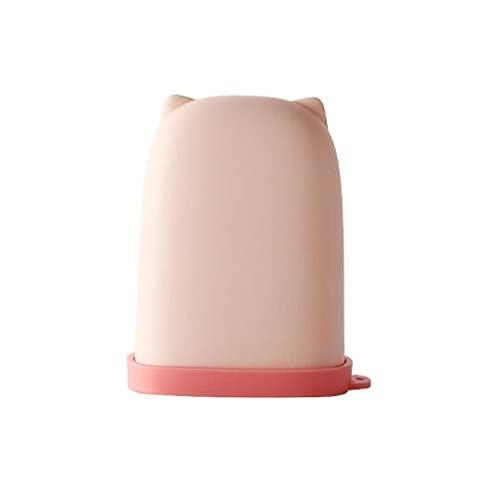MENGHUA A153 - Portasapone in silicone con coperchio da viaggio, portatile, impermeabile, per la casa, bagno, WC, portasapone rosa