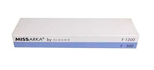 Zische Missarka Blue Abziehstein, Körnung FEPA 1200/500 (JIS 4000/1200), 200 x 60 x 25 mm, extra breit, Kombi-Abziehstein für Küchenmesser