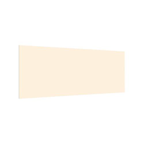 Bilderwelten Spritzschutz Glas Küchenrückwand Crème - Panorama, 59x125 cm