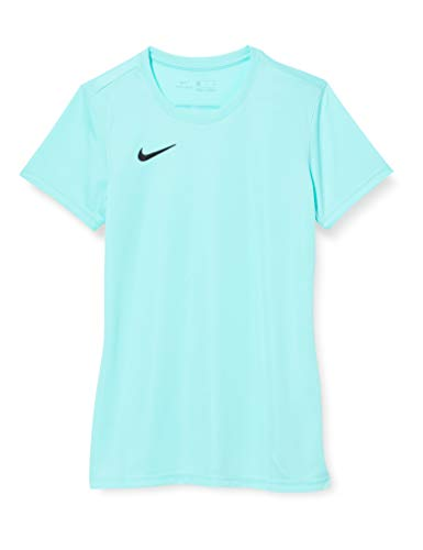 NIKE W Nk Dry Park VII JSY SS Camiseta de Manga Corta, Mujer, Hyper turq/Black, XL
