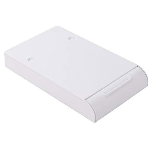 DOITOOL 1pc plástico ABS cajón estilo caja de almacenamiento oculta caja de lápiz adhesivo debajo de la mesa organizador de escritorio de gran capacidad estudiantes papelería caja (blanco)