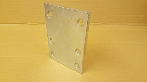 Placa de remolque para bola de remolque, 6 agujeros, resistente placa de ajuste de altura