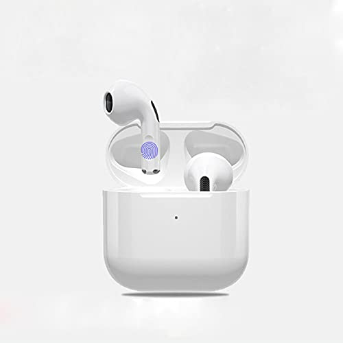 Wireless Earbuds Bluetooth Headphones with Charge Case Sport and Music Stereo Sound Noise Canceling Earphone with 2 Built-in Mic Hands-Free Sports Headsets for Most Smartphones - White