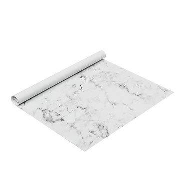 DyNamic 10 Stks/Set 70 * 50 Cm Marmer Inpakpapier Geschenkverpakking Luxe Glans Verjaardag Bruiloft Decoraties - Wit