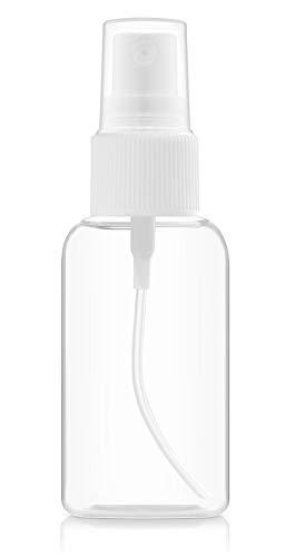 BAR5F Fine Mist Plastic Spray Bottle | 50 ml / 2 fl.oz | Leak-Proof Automizer | For Perfume, Essential Oils, Liquids, Aromatherapy, Travel Size
