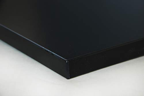 Schreibtischplatte 180x80 aus Holz DIY Schreibtisch direkt vom Hersteller vielseitig einsetzbar - Tischplatte Arbeitsplatte Werkbankplatte mit 125kg Belastbarkeit & Kratzfestigkeit - Dekor Schwarz