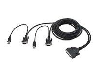 Belkin OmniView QuadBus Serie Dual-Port USB KVM-Kabel 3,6 m