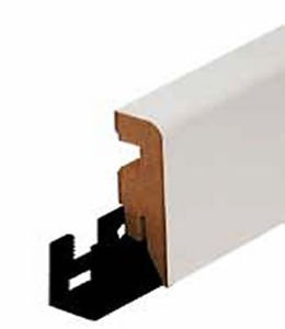 Sockelleiste Cube 604 UM MDF weiß lackiert RAL 9010 16x58x2500 - 2,49 € pro m