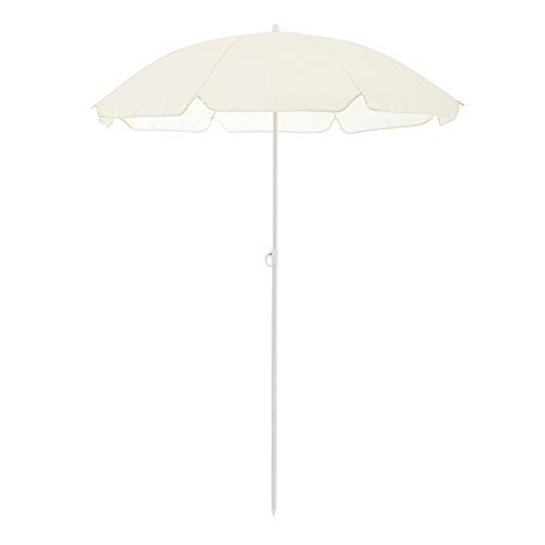 casa.pro] Sombrilla de Playa Parasol Beige Ø x H 140 x 164cm Protector Solar