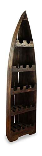 livasia Weinflaschenregal, Flaschenregal, Vinothek, Weinschrank (Boot 195cm)