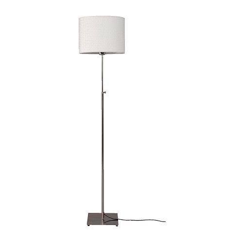 Ikea ALANG - Lámpara de pie, niquelado, Blanco