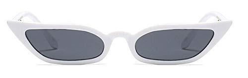 Gafas de sol Summer Gafas de sol con montura pequeña Mujer Gafas de sol de diseñador Shopping Uv400-White_Gray