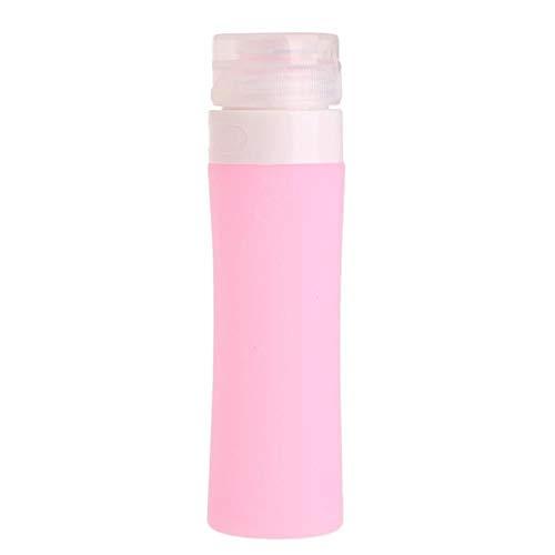 Récipient de Bain de shampooing Voyageur Bouteille de Silicone Rechargeable Portable / 60ML /, Rose 2 pcs, 60ml