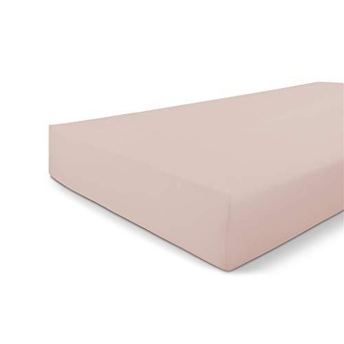 Walra Drap-Housse 80x200, Drap-Housse Jersey, s'adapte Parfaitement à la Forme du Matelas, Toucher Doux, Infroissable, sans Repassage, 100% Coton- Vieux Rose