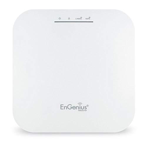 EnGenius EWS357AP WiFi 6 802.11ax 2x2 Managed Indoor Wireless Access Point cuenta con OFDMA, MU-MIMO, PoE+, WPA3, puerto de 1 Gbps, administración remota (adaptador de corriente no incluido)