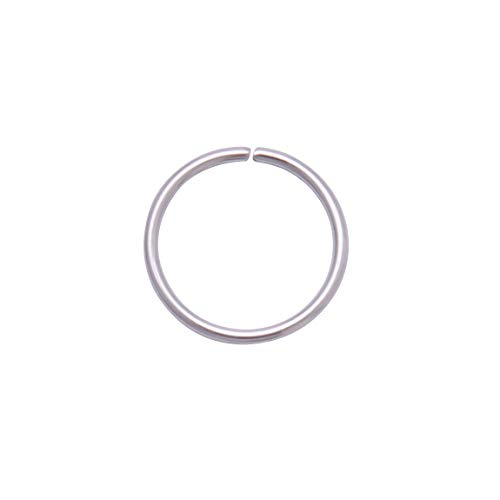 4youquality Surgical Steel Nose Ring Nose Hoop Cartilage Helix Lip Ear Piercing Ring (Silver, Size 1.0 * 8mm Medium)
