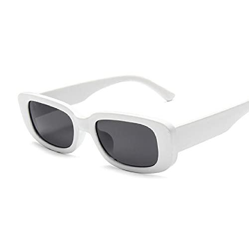 Gafas de Sol Negras para Mujer, rectangulares, pequeñas Gafas de Sol gradiente, Espejo Transparente Femenino